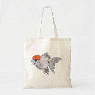 Bolsa Tote Peixes brancos e alaranjados do animal de