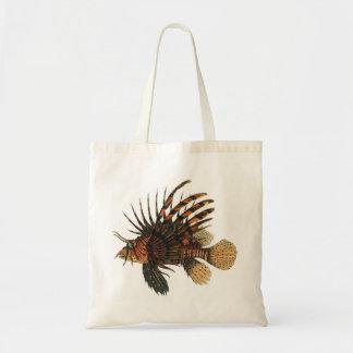 Bolsa Tote Peixes do Lionfish do vintage, animal marinho da