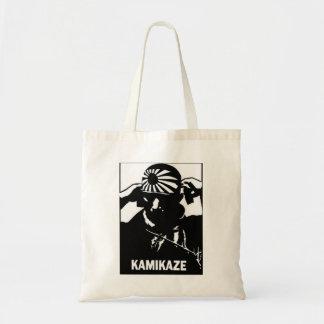 Bolsa Tote Piloto japonês preto e branco do Kamikaze