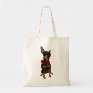 Bolsa Tote Pinscher diminuto (Pin do minuto) com sacola do
