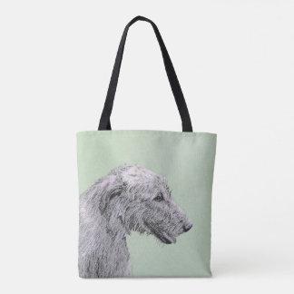 Bolsa Tote Pintura do Wolfhound irlandês 2 - arte original