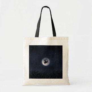 Bolsa Tote Porco noturno do vôo através da Lua cheia