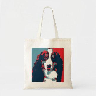 Bolsa Tote Poster político da paródia do cão de montanha de