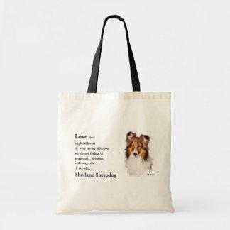 Bolsa Tote Presentes de Sheltie do Sheepdog de Shetland