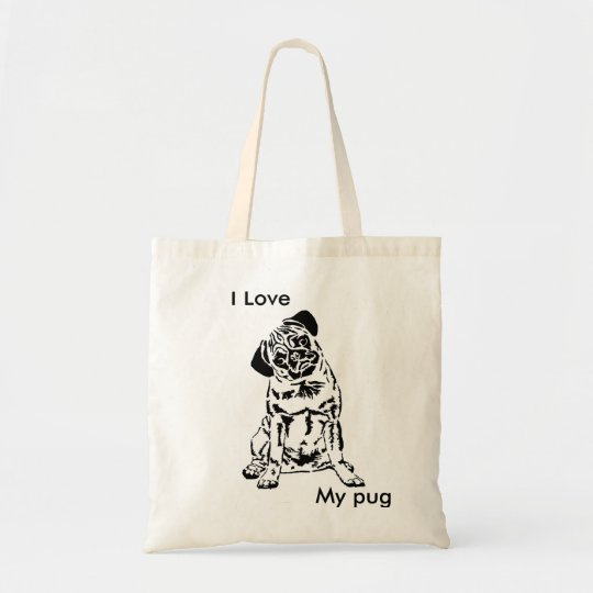 Bolsa Tote Pug bag