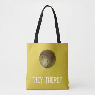 Bolsa Tote Rato bonito no animal engraçado do furo