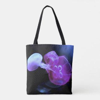Bolsa Tote Refrigere medusas cor-de-rosa acima perto