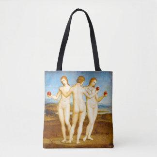 Bolsa Tote Renascimento de Raphael as três mulheres das