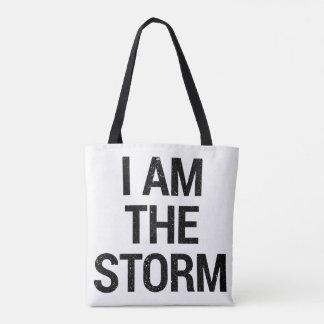 Bolsa Tote resista-me são a sacola da tempestade