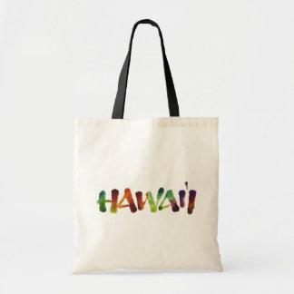 Bolsa Tote Rotulação de Hawai'i - divertimento colorido da