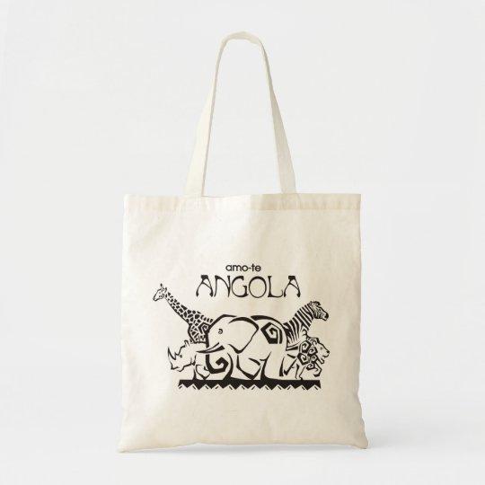 Bolsa Tote Saco - amo-te Angola - Animais