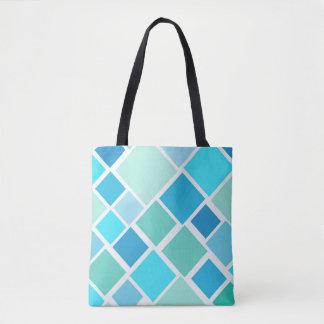 Bolsa Tote Saco azul do bloco de cidade