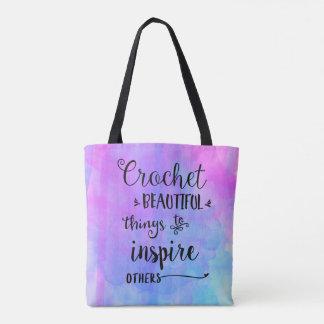Bolsa Tote Saco bonito das coisas do Crochet