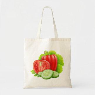 Bolsa Tote Saco com legumes frescos