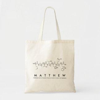 Bolsa Tote Saco do nome do peptide de Matthew