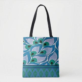 Bolsa Tote Sacola azul de Nouveau da arte dos Hostas