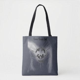 Bolsa Tote sacola azul escuro com aranha do crânio
