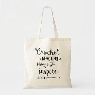 Bolsa Tote Sacola bonita das coisas do Crochet