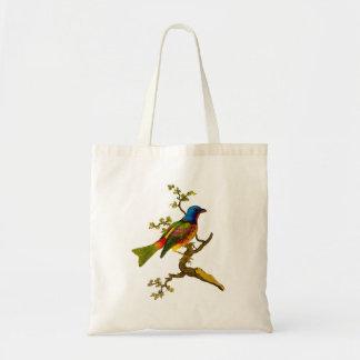 Bolsa Tote Sacola Bunting pintada do pássaro