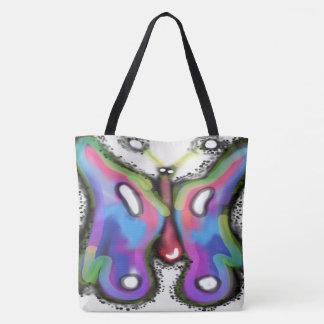 Bolsa Tote Sacola colorida do impressão das asas toda sobre -