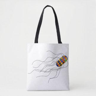 Bolsa Tote Sacola com um micróbio do vitral