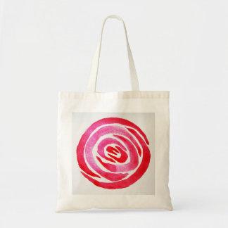 Bolsa Tote Sacola cor-de-rosa do abstrato