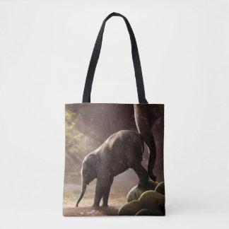 Bolsa Tote Sacola do banho do elefante do bebê primeira