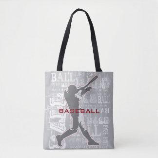 Bolsa Tote Sacola do design do basebol