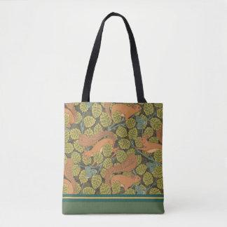 Bolsa Tote Sacola do design do esquilo de Nouveau da arte