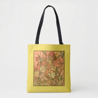 Bolsa Tote Sacola do design floral de Nouveau da arte