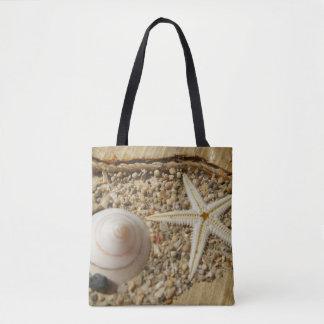 Bolsa Tote Sacola do escudo da estrela do mar e do mar