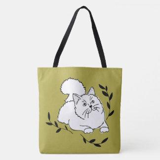 Bolsa Tote Sacola do gato do louro