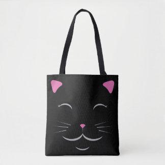 Bolsa Tote Sacola do gato preto