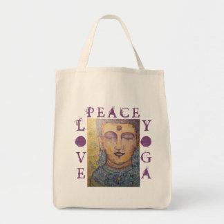 Bolsa Tote Sacola do mantimento da arte de Buddha da ioga do