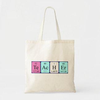 Bolsa Tote Sacola do nome da mesa periódica do professor