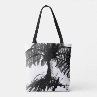 Bolsa Tote Sacola escura da palma
