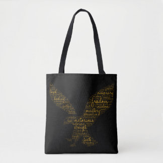 Bolsa Tote Sacola feita sob encomenda com texto espiritual da