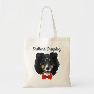 Bolsa Tote Sacola ilustrada do Sheepdog de Shetland