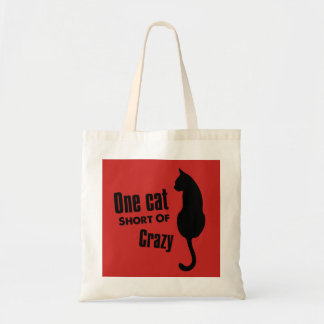 Bolsa Tote Sacola louca da senhora Engraçado Meow do gato