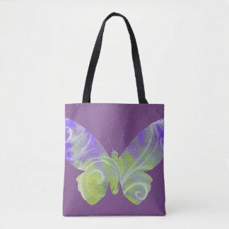 Bolsa Tote Sacola roxa da borboleta
