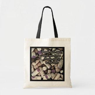 Bolsa Tote Sacolas das citações das cortiça do vinho