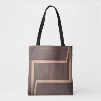 Bolsa Tote Sacolas de madeira escuras abstratas do design
