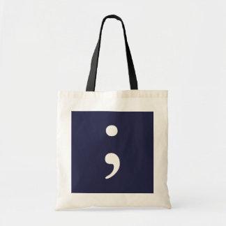 Bolsa Tote Semicolon - azul escuro