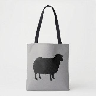 Bolsa Tote Silhueta das ovelhas negras