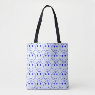 Bolsa Tote Smiley face azul escuro