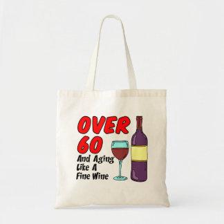 Bolsa Tote Sobre 60 que envelhecem como uma sacola do vinho