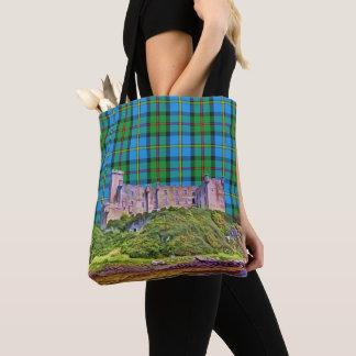 Bolsa Tote Tartan azul e verde do castelo de MacLeod Dunvegan