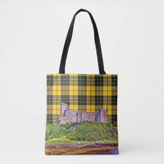 Bolsa Tote Tartan do preto do amarelo do castelo de MacLeod