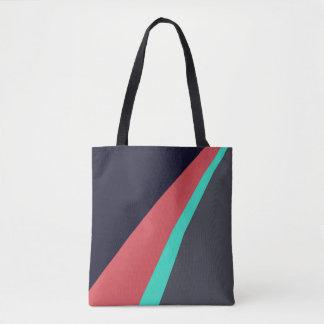 Bolsa Tote Teste padrão vermelho preto das cinzas de turquesa
