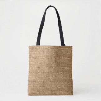 Bolsa Tote Textura rústica floral simples de serapilheira